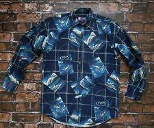 Chaps Ralph Lauren Fishing, Hunting, Deer, Boat Long Sleeve Button Shirt Size S