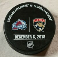 Florida Panthers Colorado Avalanche Warm Up Puck Hockey December 6 2018 NHL
