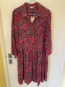 Hush Emanualle shirt dress size 8 pink floral print BNWT
