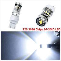 2 x 12-24V T20 7443 White 20-SMD LED Car Driving Fog Light Reversing Light Bulbs