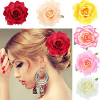 Artificial Rose Flower Hair Clip Pin Brooch Hairpin Bridal Wedding Headdress