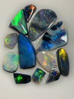 Australian Opal ROUGH L/R GEM GRADE SUPER CLEAN BRIGHT RUBS 24cts WB1320 VIDEO