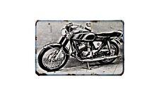 Bridgestone 350 Gtr Motorbike Sign Metal Retro Aged Aluminium Bike