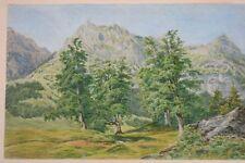 Schweiz - Engelberg Widderfeld, Aquarell, datiert 1887