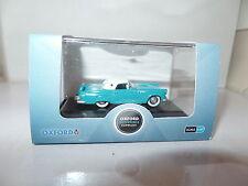 Oxford USA 87TH56002 TH56002 1/87 HO Ford Thunderbird 1956 Peacock Blue / White