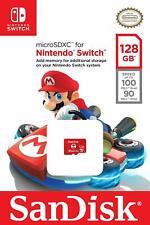 SanDisk Nintendo Switch 128 GB micro SD XC Card Flash Storage Memory Genuine USA