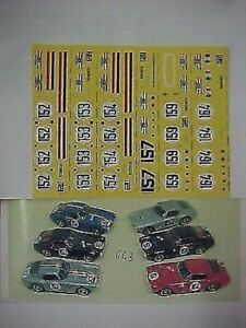 1/43 DECALS ALL 6 VERSION CAR FERRARI 250 GT SWB TOUR DE FRANCE 1960 FULL DECAL