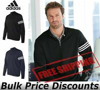Adidas Mens ClimaLite 3-Stripes French Terry Quarter-Zip Pullover A190 up to 3XL