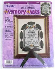 To My Mother Bucilla 42783 Memory Mats Counted Cross Stitch Kit Sealed Ribbon