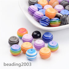 50pcs 12mm Colorful Round Resin Beads Cute Candy Beads Assorted Craft Making