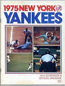 1975 New York Yankees vs Baltimore Orioles Scorebook & Official Magazine