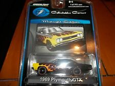GREENLIGHT 1/64 MIDNIGHT EDITION FLAMES 1969 PLYMOUTH GTX  LIMITED EDITION