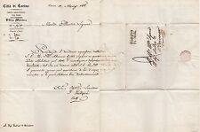 LETTERA 1848 MILITARE CITTA' DI TORINO AL SINDACO DI BEINASCO SERVIZIO DI LEVA