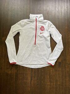 Womens Ohio State Nike Drifit Jacket Pullover 1/4 Zip Warmup Running Sz Large