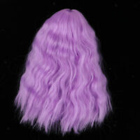 1/4 Girl Doll Hair Long Wavy Wig Purple for BJD Pullip DZ MSD Doll DIY Accs