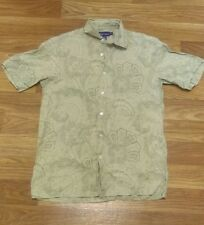 Mens RALPH LAUREN Purple Label Paisley Button Up Shirt MEDIUM Italy Polo