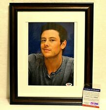 Cory Monteith Signed Autograph Glee Framed PSA/DNA COA Actor