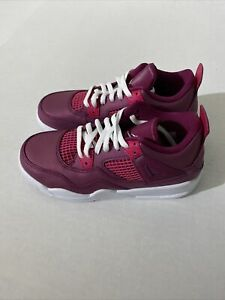 Nike Youth Jordan 4 Retro True Berry Rush Pink White Athletic Shoes Size 1.5Y PS
