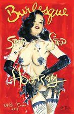 POSTER DITA VON TEESE cm. 30x41 poster repro BURLESQUE STIPTEASE