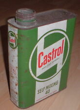 motor öldose castrol self mixing  blech dose oel behälter alt top oldtimer deko