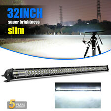 Dual Row 32INCH LED Light Bar 2040W Driving Offroad Flood Spot Combo Beam PK 30""
