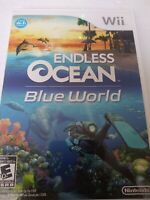 Endless Ocean: Blue World Nintendo Wii 2010 with Manual Tested Working