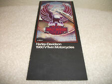 Vintage Harley 1980 V Twin Motorcycles Sales Brochure Harley of PITTSBURGH,PA