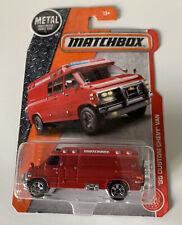 2016 Matchbox 1995 Custom Chevy Chevrolet Van With Motorcycle