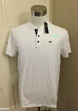 NWT Hollister Men's Must-Have Henley, White, Small