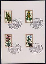 Bund 982 - 985 Karte Sonderstempel Sindelfingen 26.10 2001 König Wilhelm Blumen