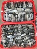 1lb Natural Black Tourmaline In Quartz Point Crystal Wand obelisk Wholesale
