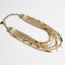 SAMANTHA WILLS New Under the Sun Collar Necklace Shiny Gold with Tags & Box