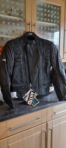 AKITO Touring leather Biker Jacket Size Uk42 Bnwt ,see description