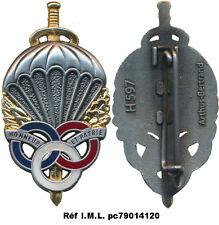 Brevet Préparation Militaire Parachutiste,type 2, dos grenu plat,A.B 597(1427)