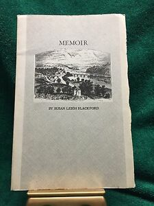 Memoir: Life In & Out Of The Army in Virginia, Blackford 2nd Va Cavalry-1959