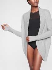 ATHLETA Finale Wool Cashmere Wrap Luxe Cardigan Sweater XS | cya Grey Heather