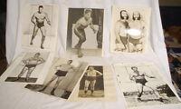 Vintage Wrestlers' Memorabilia, magazine layout photos and early program