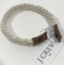 J.Crew Men's Wax Thread  Bracelet With snap Closure.Ivory.One size.Nwt