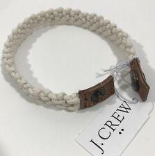 J.Crew Men's Wax Thread  Bracelet With snap Closure.Ivory.One size.Nwt