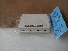 4 Port Keystone Jack Surface Mount Box - White - new in package