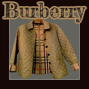 Burberry Brit Quilted Jacket w/Nova Plaid Lining