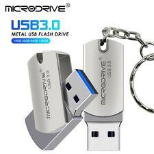 USB 3.0 silver Pen Drive USB Flash Drive 16GB 32GB 64GB metal Pendrive Gift