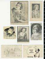 1930's-40's Pencil & Pen Drawings Lot of 7 by William Froede of New York City