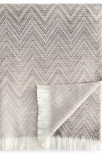 New $500 + Missoni Timmy Throw Blanket In Merino Wool Beige