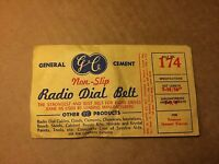 NOS Antique General Cement Radio Belt 174 GUARANTEED Emerson GE General Electric