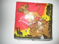 20 serviettes en papier Roi Lion + 7 Assiettes en carton RARE