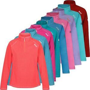 New Ladies Jumper Regatta Light Micro Fleece Half Contrast Zip Pullover Jumper