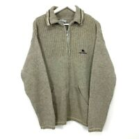 Vintage Burberry Wool Blend Zip up Sweater Knit Men's Size Large