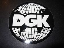 DGK Logo Skate Sticker GLOBE dirty ghetto kids skateboards helmets decal