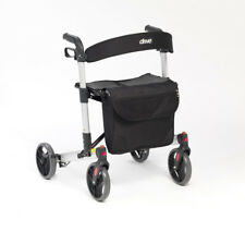 Drive X Fold Rollator 4 Wheeled Walker Lightweight Walking Mobility Aid Frame